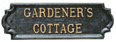 Gardeners Cottage sign