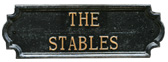 The Stables Cottage sign